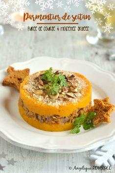 parmentier of seitan puree squash vegan christmas - meal