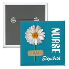 Gift Buttons for Nurses with personalized Nurse's Name is a perfect gift for a special nurse for Nurses Day, Nurses Week, Nurse's Birthday, Graduation from Nursing School or simply to give thanks. Matching cards in various languages, postage stamps and other products available in the Business Related Holidays / Nurses Day Category of the Mairin Studio store at zazzle.com