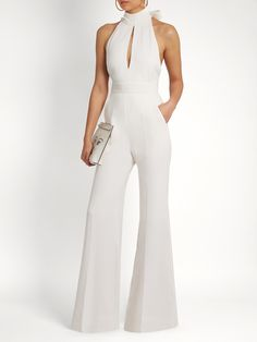 White Jumpsuit Formal, Elegante Jumpsuits, Bachelorette Outfits, Jumpsuit Dress, Dress Codes, Classy Outfits, Stylish Outfits, Casual Dresses For Women, Smart Casual Women Dress