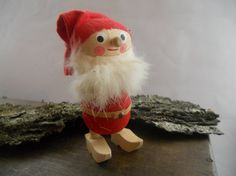 Vintage Swedish Tomte elf figurine Small Wooden by TasteVintage, $18.00