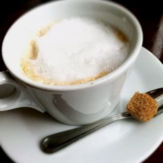 Cappuccino with brown sugar.