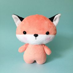 Fox plush toy Cute stuffed fox Baby fox toy by CreepyandCute