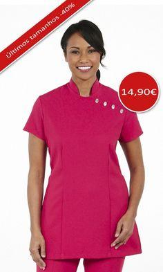 Túnica de senhora multisserviço  Túnica muito feminina, torna a silhueta delineada a realçar as formas de quem a veste!