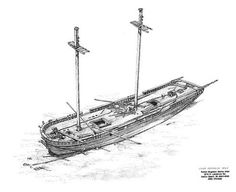 A perspective drawing of the schooner Defiance source
