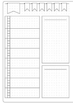 This could be for meal planning or meal planning in a bullet journal--Simple Weekly Layout & Template - Kate Louise Bullet Journal Inspo, Minimalist Bullet Journal, Bullet Journal 2019, Bullet Journal Spread, Bullet Journal Ideas Pages, Bullet Journals, Bullet Journal Layout Templates, Bullet Journal Weekly Layout, Bullet Journal Printables