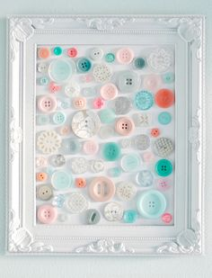 Love this DIY Button Art
