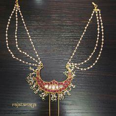 Hair Jewelry, Pearl Jewelry, Beaded Jewelry, Jewelery, Silver Jewelry, Handmade Jewelry, Fashion Jewelry, Women's Fashion, Indian Jewellery Design