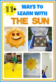 Sun fun and learning ideas -> Lots of fun science experiments, cool math and science combo activity, crafts, book suggestions, etc.