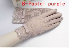 The Wish tea-time-gloves collection has everything you want for a price you'll love. Lace Gloves, Leather Gloves, Gants Vintage, Out To Lunch, Driving Gloves, Pastel Purple, Cloche Hat, Bridal Accessories, Sunscreen