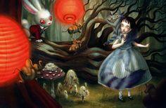 Benjamin Lacombe-Alice meets the cheshire cat - 2010