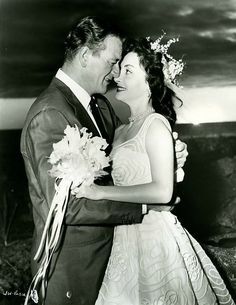 Duke and Pilar on their wedding day in Hawaii, 1954 They had three children: Aissa, born in 1956, John Ethan, born in 1962 and Marisa , born in 1966
