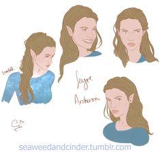 "seaweedandcinder: "" Feyre Archeron sketchdump ik its a popular fancast but barbara palvin is def my feyre"