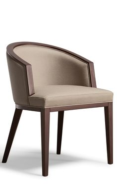 The small size of this chair and the distinctive shape of the armrests make it ideal for use alongside a dining table or a hotel room desk Dinning Chairs Modern, Luxury Dining Chair, Fabric Dining Chairs, Dining Table Chairs, Chair Design Wooden, Sofa Design, Furniture Design, Chair Upholstery, Upholstered Chairs