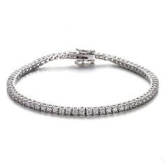 Find More Chain & Link Bracelets Information about round simulated diamond CZ tennis bracelet in sterling silver 925 zircon link bracelet exquisite paved prong setting charm,High Quality diamond bracelet women,China bracelet bike Suppliers, Cheap diamond ring key chain from True Pretty Jewelry on Aliexpress.com