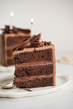 Chocolate Cremeux Cake with Espresso Buttercream