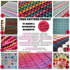 Oombawka Design *Crochet*: Free Pattern Friday - Let's Get Warm! Crochet Blanket Pattern Round Up!