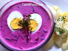 In Summer you will love cold cooling soup made of beets and beet's leaves, buttermilk and Spring greens: dill, spring onion and cucumber. Sour Cream Cucumbers, Creamed Cucumbers, Clear Vegetable Soup, Beet Borscht, Sorrel Soup, Polish Soup, Spring Potato, Polish Chicken, Mushroom Barley Soup
