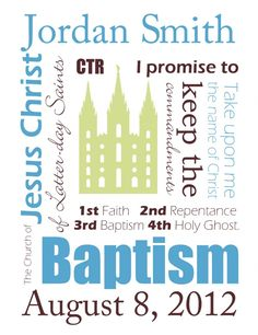 Nice idea for a baptism gift--  Free LDS baptism printables- made in Word so you can customize with your own name and date before printing from home!