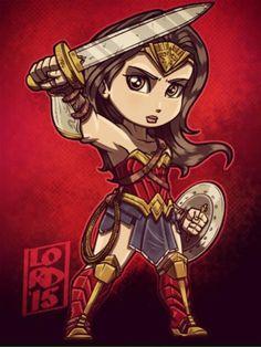 Batman V Superman-Wonder Woman - Lord Mesa Art Superman Wonder Woman, Wonder Woman Comic, Wonder Women, Chibi Superhero, Female Superhero, Lord Mesa Art, Lego Dc Comics, Jobs In Art, Univers Dc
