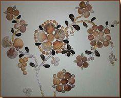 Tableau fait avec des coquillages de la côte atlantique. - Le blog créatif de Mohati