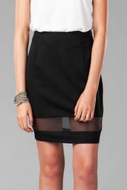 Le Mans Organza Pencil Skirt