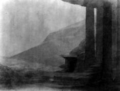 a design for 'Parsifal' act three, scene one, by Adolphe Appia (ca. 1896).