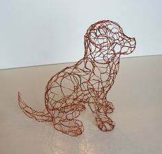 Wire-Sculpture-Copper-Puppy-Right | Flickr - Photo Sharing!