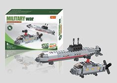 Navy Submarine with Helicopter 3 in 1 Building Blocks 222pc set Includes Action Figure Compatible to Lego Parts - Great Gift for Children >>> Check this awesome product by going to the link at the image.