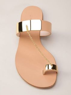 Gold Toe Ring Sandals and Skater Dress Worn by Eva Longoria Toe Ring Sandals, Shoes Flats Sandals, Cute Sandals, Toe Rings, Shoe Boots, Flat Sandals, Slipper Sandals, Gold Sandals, Fancy Shoes