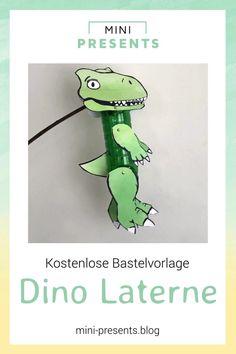 Ich zeige dir wie einfach du eine DIY Dino upcycling Laterne basteln kannst. Lade dir mein kostenloses Bastelset für deine St. Martin Laterne herunter! Diesen Herbst kannst du mit meiner Bastelanleitung deine Laterne einfach selber basteln. Schaue dir das Anleitungsvideo auf meinem DIY Blog an! #minipresents #laterne #basteln #stmartin #bastelmitkindern #dinosaurier #dino #bastelvorlage #freebie #upcycling Paw Patrol Party, Life Lesson Quotes, Free Games, Happy Halloween, Kindergarten, Presents, Diy Blog, Words, Mini