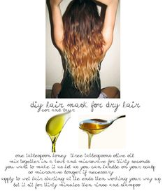DIY hair mask for ombre and dry/damaged hair #ombre #diy #hair