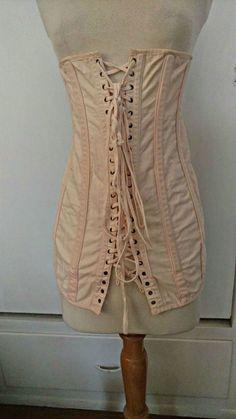 1543b51a31 Vintage Edwardian Spirella Corset Modeling Fitting Under Garment