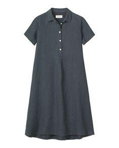 SWINGY LINEN SHIRT DRESS by TOAST