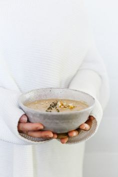 Roasted chestnut and fennel soup.