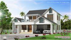 Kerala home design and floor plans: Villas