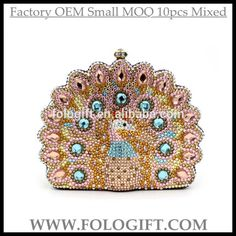 493d8127b0 Quality Peacock Crystal Clutch Evening Bag Animal Shape Peacock Gold Clutch  Bags for Women with Golden Chain Unique Party Clutch