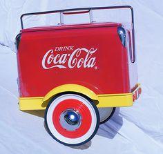 *COCA-COLA ~ Coke Gearbox Limited Edition Pedal Car Trailer Retro Cooler 707352   eBay