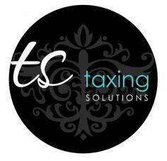 Taxing Solutions | custom business logo design | tax business logo #jenniferalisondesigns.com