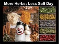 August 29  National More Herbs Less Salt Day
