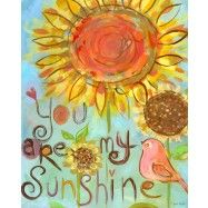 You Are My Sunshine Canvas Wall Art by Carter Carpin from Oopsy Daisy, Fine Art For Kids