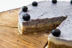 vegan raw blueberry coconut pie ~ just replace the honey with agave syrup or your favorite vegan sweetener to make it really vegan