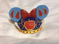 "Disney Theme Parks Exclusive Princess ""Snow White"" Mickey Mouse Ear Hat Ornament"
