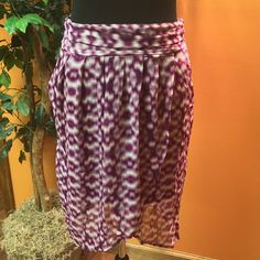 PRETTY FUSCHIA WRAP STYLE SKIRTMOSSIMO Light weight and full of bold color with a wrap style front and fully lined with a complimentary fuschia slip.. Side zip.. NWOT Mossimo Supply Co Skirts