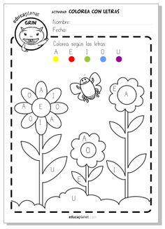 Colorea para Infantil con las vocales