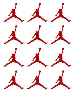 Jumpman Jordan Stickers 30 pcs, Basketball Player Envelope Seals, Nba Cup Stickers, Little Jumpman Party Stickers, Basketball Decals Jordan