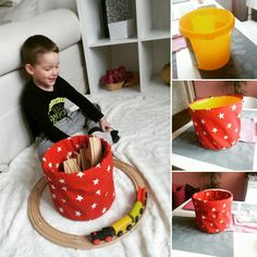 Recy bucket Toys basket sewing