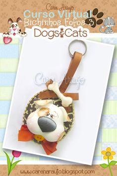 Caren Araujo - Arte em EVA: Peças do Curso Bichinhos fofos 03 - Cats & Dogs