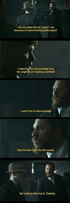 Alfie Solomons | Peaky Blinders | great performance by Tom Hardy Tv Show Quotes, Movie Quotes, Peeky Blinders, Peaky Blinders Tommy Shelby, Alfie Solomons, Peaky Blinders Quotes, Tom Hardy Hot, Steven Knight, Gangster Quotes