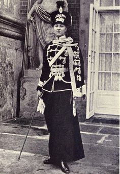 Princess Victoria Louise of Prussia as Colonel of the Death´s Head Hussars