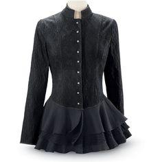 Eventide Peplum Jacket Size 1X ($100) ❤ liked on Polyvore featuring outerwear, jackets, stripe jacket, striped peplum jacket, woven jacket, peplum jacket and striped jacket